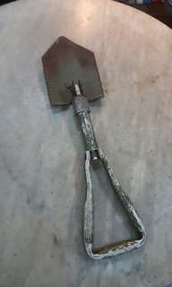 Old Military Folding Shovel