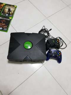 Xbox classic unmodded with 7 games