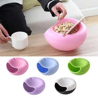 Phone Holder Double Layers Snack Lazy Bowl
