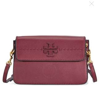 TORY BURCH MCGRAW CROSS-BODY (IMPERIAL GARNET)