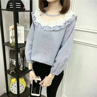 NEW! Lace blue shirt