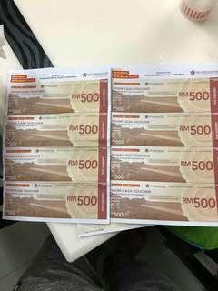 Hotel room cash voucher worh RM 2K @ swiss garden, ,cherating pahang.