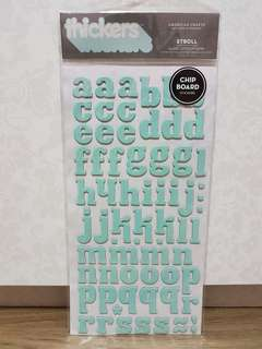Thickers 'Stroll' Printed Chipboard Letter Stickers