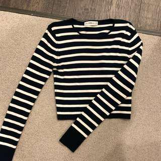 Zara stripped long sleeve knit