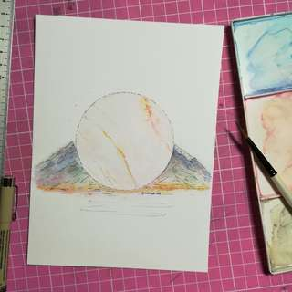 Handmade Watercolor Painting card