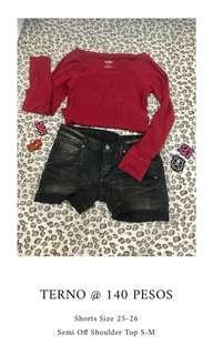 Terno Denim Shorts + Top
