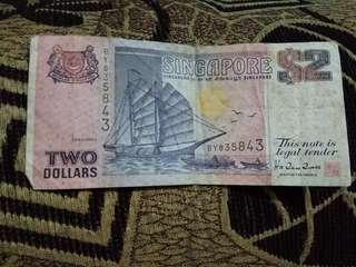 Uang lama two dollar