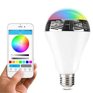 408 Wireless Bluetooth Speaker Colour Changing Bulb