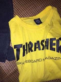 🚚 Thrasher火焰黃色t