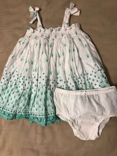 Baby GAP Girl's Dress With Matching Diaper Cover