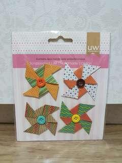 UW Scrapbooking Handmade Embellishments (Star Pinwheels)