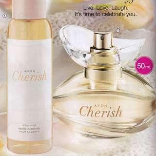 Avon Cherish Body Mist 100mL / Eau de Parfum 50mL