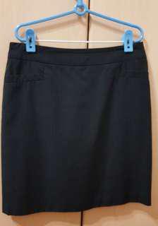 Black pinstrip Skirt