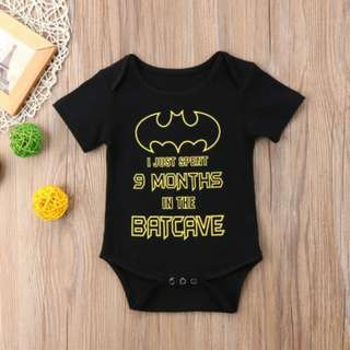 🚚 Lovely Newborn Baby Boy Unisex Romper Black Batman Clothes Outfit Cute Funny Pun