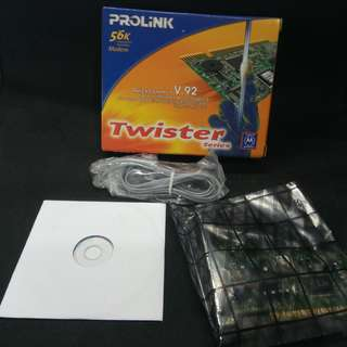 PROLINK 56K Internal PCI Voice/Fax Modem (1456PCI-M). Brand new, never used