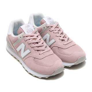 New Balance WL574 馬卡龍配色 粉紅