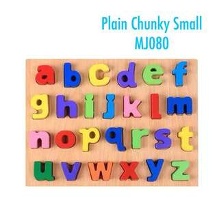 Wooden plain chunky puzzle-small letters