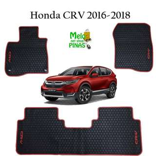 Premium Rubber Matting for Honda CRV 2016 to 2018 (Red Lining)