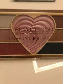 Revolution eyeshadow and highlighter palette
