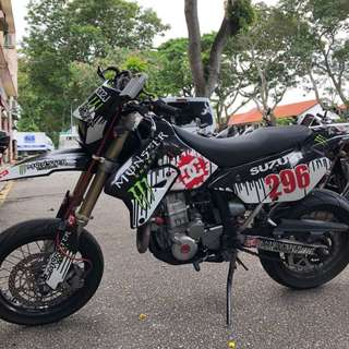 RENTAL DRZ 400 SM SUZUKI MOTARD RELIABLE 4 STROKE LEASING SHORT LONG TERM AFFORDABLE RATES