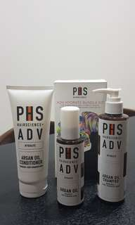 PHS Hydrate Kit (Agan Oil, Shampoo and conditioner)