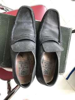 Sepatu uk 40 pantofel pria kulit