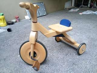 Bornelund wooden trike for 1-2 y/o from japan