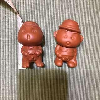 2 pcs Shin Chan clay display