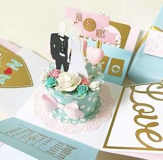 🚚 Happy Wedding congratulations Explosion Box card