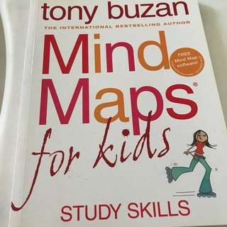 🚚 Mind Maps Mapping for Kids Tony Buzan International Bestselling Author Study Skills Book