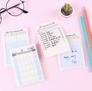 [Buy 5 Get 1 Free] Weekly and Daily sticky note