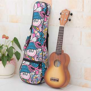 Ukulele Pink Cartoon Bag 21 and 23 inch