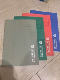 University of Stiring exercise lines books