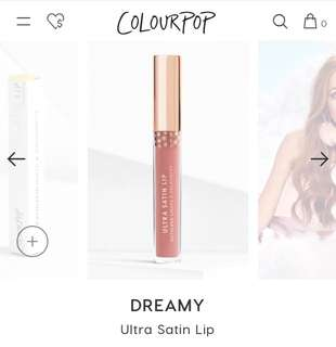 colourpop dreamy ultra satin lip