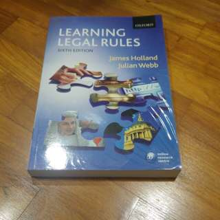 Learning Legal Rules (6th Ed)