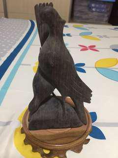 Balinese art bird sculpture wooden