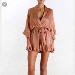 Zimmermann Empire Sueded Playsuit