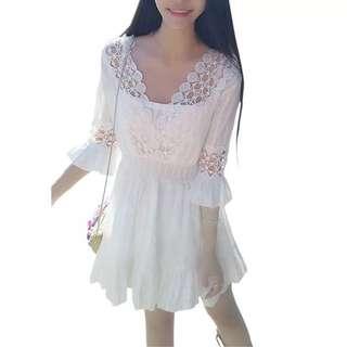 Lace dress for l-4xl