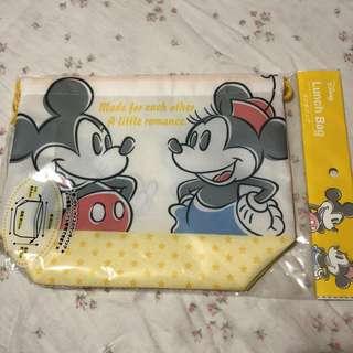 Disney Mickey Minnie drawstring bag pouch