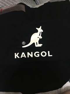 🚚 Kangol兩用帆布袋 斜背包 黑色