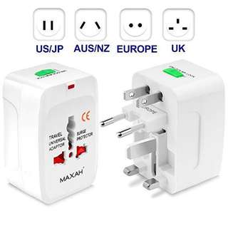 🚚 Universal Travel Plug Adapter, All in One Worldwide Universal Wall Charger AC Power Plug for EU US UK AU - Black #CarouPay