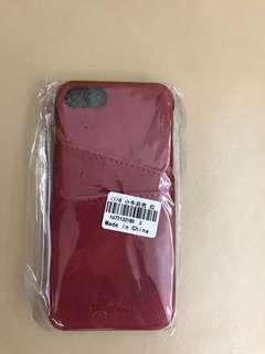 iPhone 6/7 6/7s 紅色皮套 (全新)