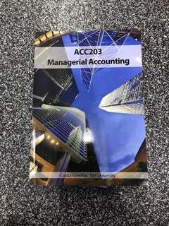ACC203 Managerial Accounting