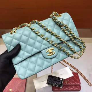 Chanel sky blue handbag
