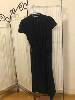 Vitor & Rolf style korean navy one piece dress