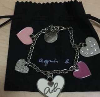 全新有盒 Agnes b 心形 掛飾 手袋 飾物