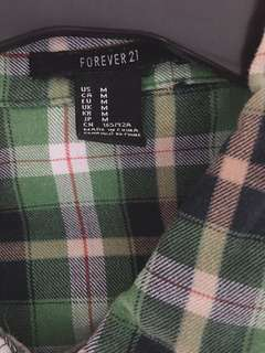 Semi Oversized Forever 21 Plaid Polo