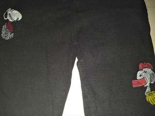 snoppy black pants