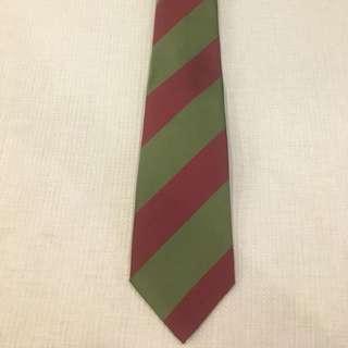 Bottega Veneta tie green and red striped