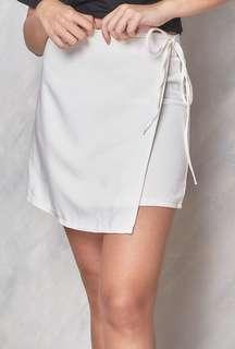 SHOPCOPPER White Wrap Skirt